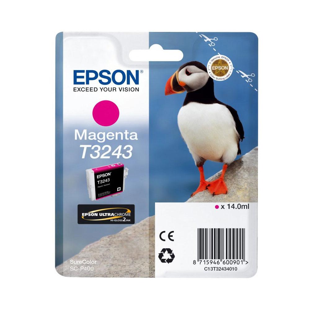 Epson Μελάνι Inkjet T3243 Magenta (C13T32434010) (EPST324340)