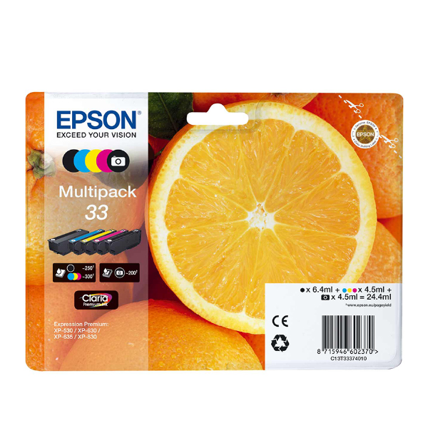 Epson Μελάνι Inkjet Series 33 Multipack (C13T33374011) (EPST333740)