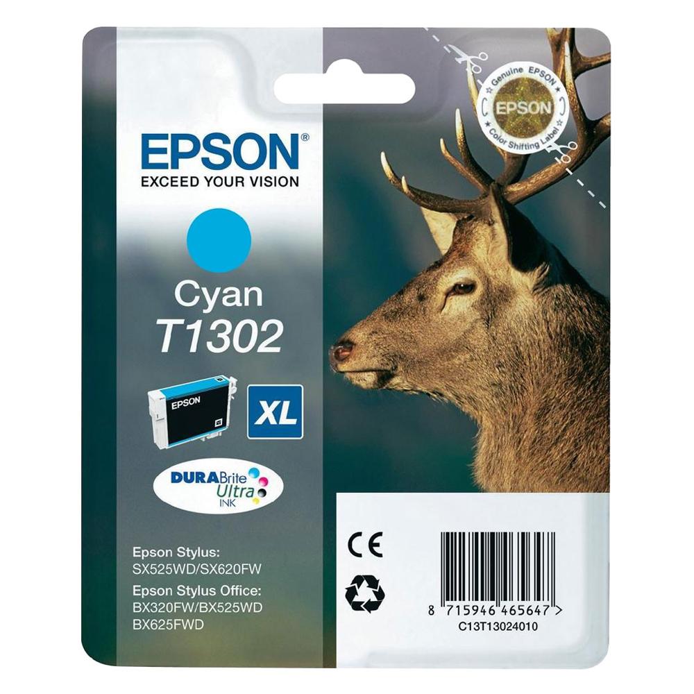 Epson Μελάνι Inkjet T1302 XL Cyan C13T13024012) (EPST130240)