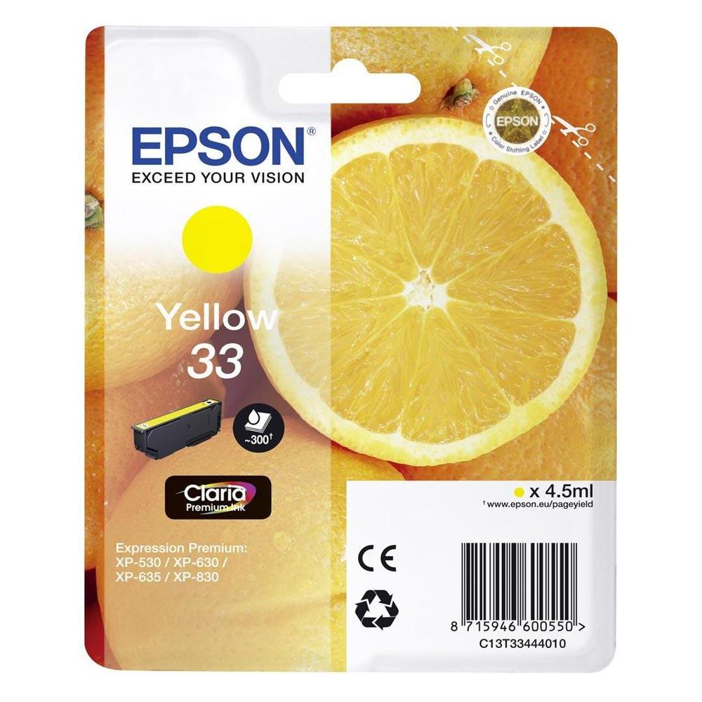 Epson Μελάνι Inkjet Series 33 Yellow (C13T33444012) (EPST334440)