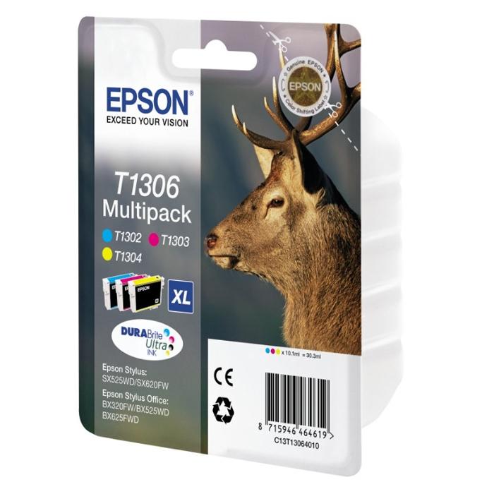 Epson Μελάνι Inkjet T1306 XL Multipack  (C13T13064012) (EPST130640)
