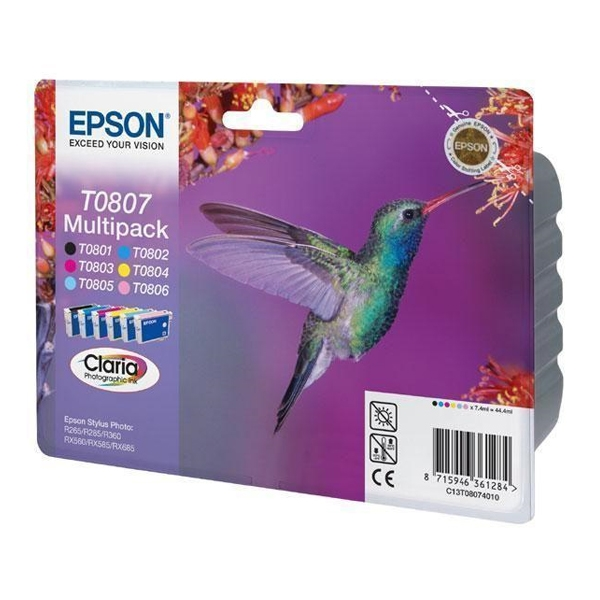 Epson Μελάνι Inkjet T0807 Multipack (C13T08074011) (EPST080740)