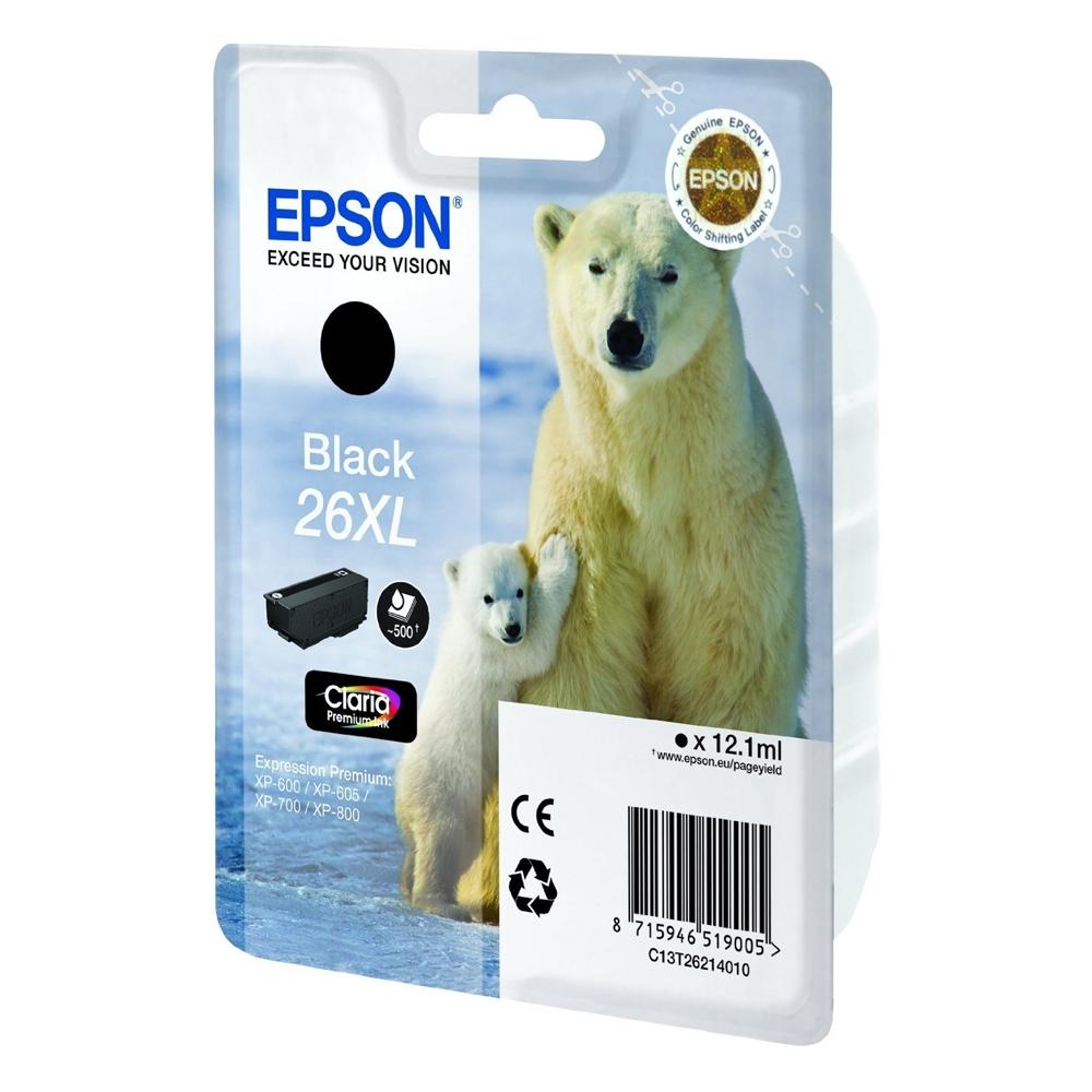 Epson Μελάνι Inkjet No.26 XL Black (C13T26214012) (EPST262140)