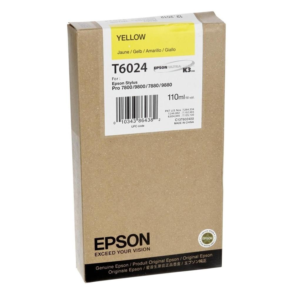 Epson Μελάνι Inkjet T6024 Yellow (C13T602400) (EPST602400)