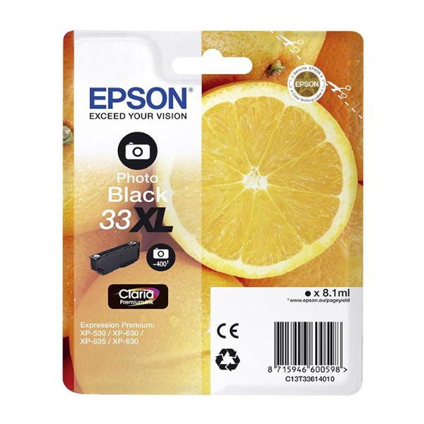Epson Μελάνι Inkjet Series 33 Photo Black XL (C13T33614012) (EPST336140)