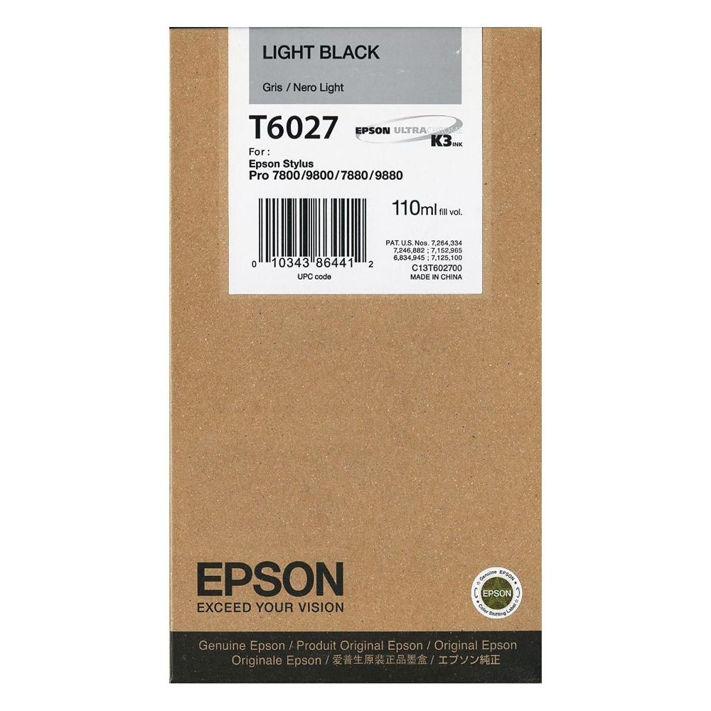 Epson Μελάνι Inkjet T6027 Light Black (C13T602700) (EPST602700)