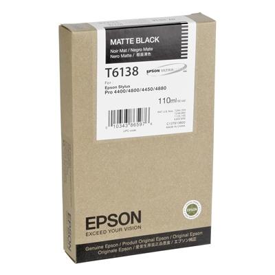 Epson Μελάνι Inkjet T6138 Matte Black (C13T613800) (EPST613800)