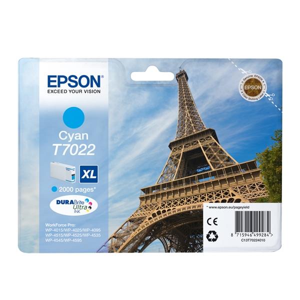 Epson Μελάνι Inkjet T7022 XL Cyan (C13T70224010) (EPST702240)