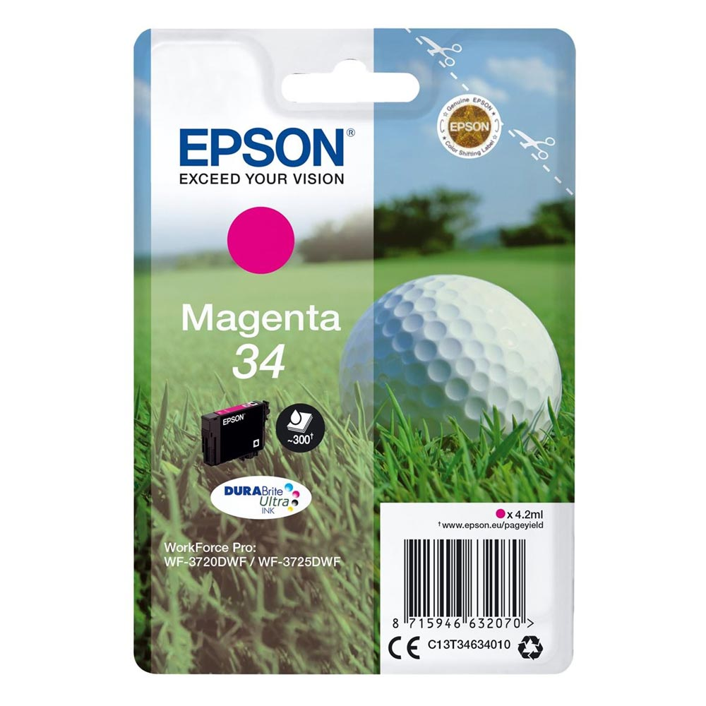 Epson Μελάνι Inkjet No.34 Magenta (C13T34634010) (EPST346340)