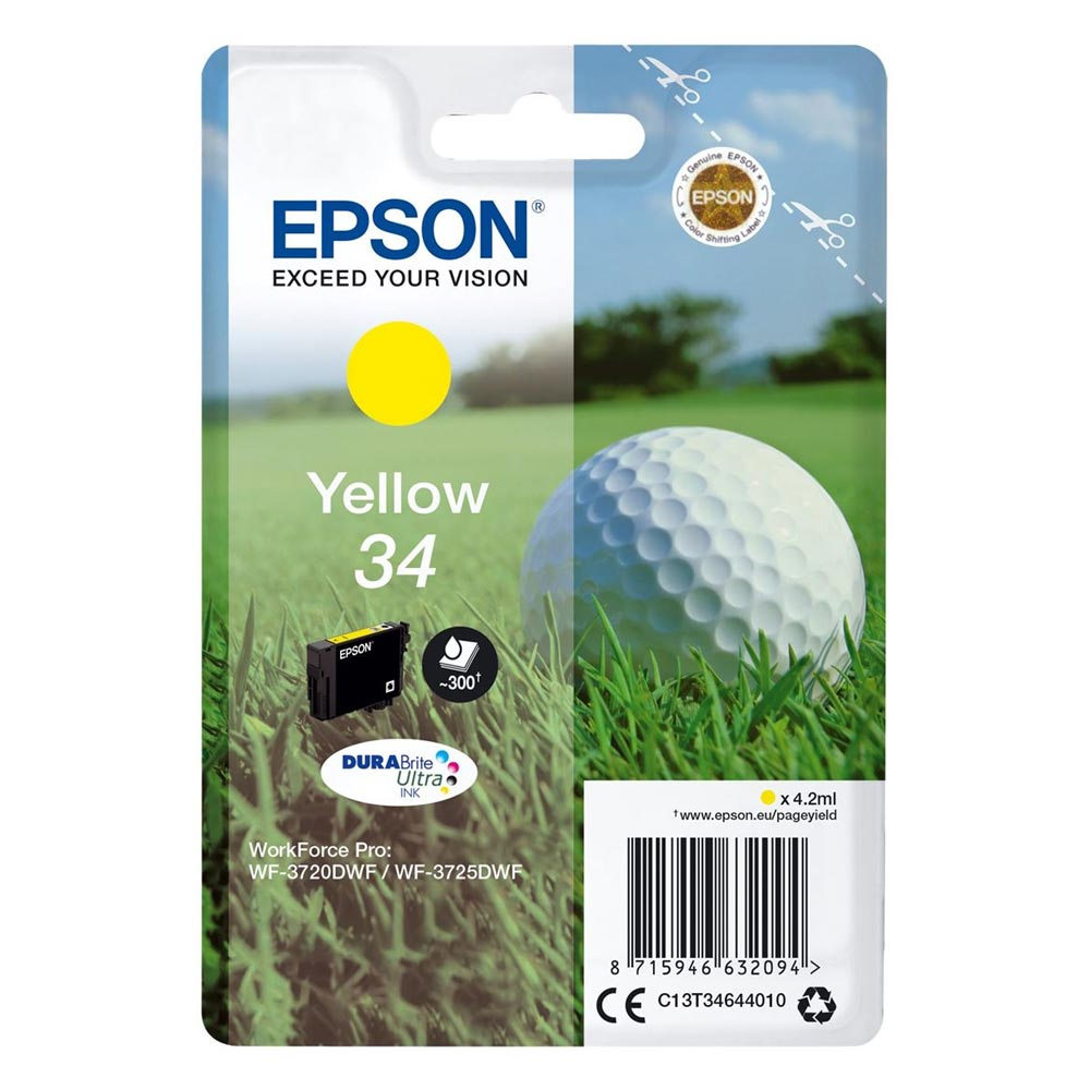 Epson Μελάνι Inkjet No.34 Yellow (C13T34644010) (EPST346440)