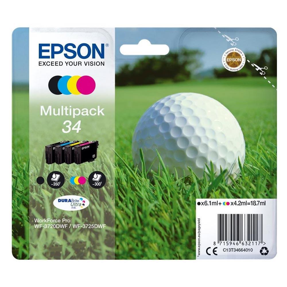 Epson Μελάνι Inkjet No.34 Multipack (C13T34664010) (EPST346640)