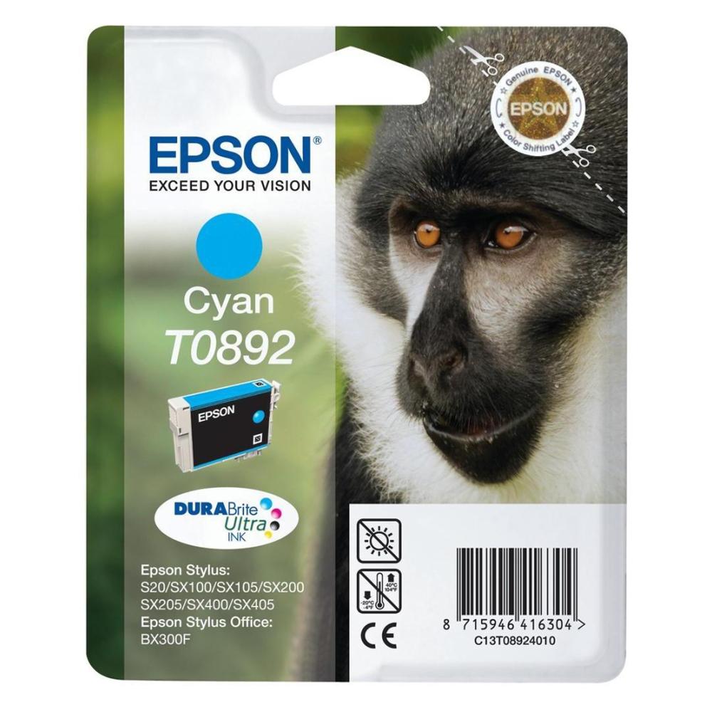 Epson Μελάνι Inkjet T0892 Cyan (C13T08924011) (EPST089240)