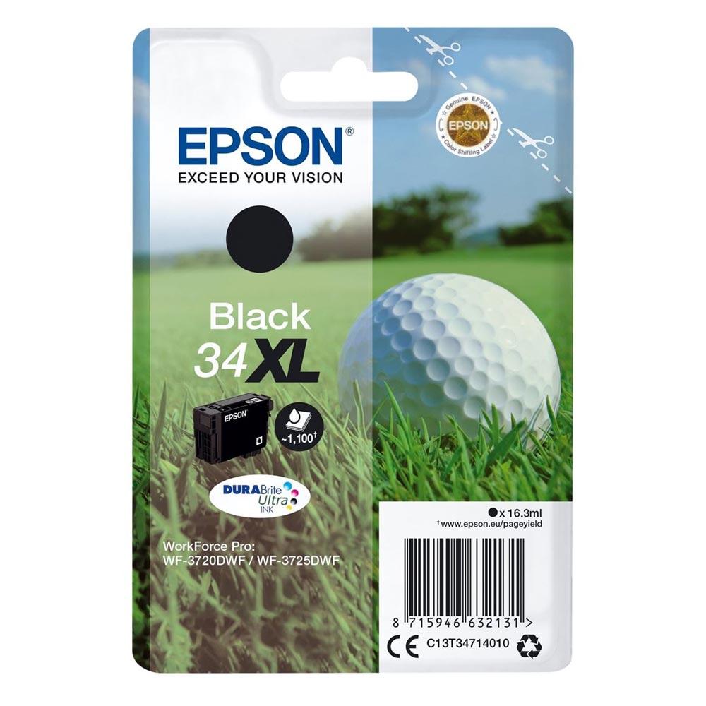 Epson Μελάνι Inkjet No.34XL Black (C13T34714010) (EPST347140)