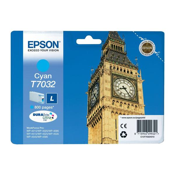 Epson Μελάνι Inkjet T7032 Cyan (C13T70324010) (EPST703240)