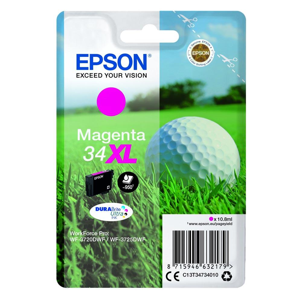 Epson Μελάνι Inkjet No.34XL Magenta (C13T34734010) (EPST347340)