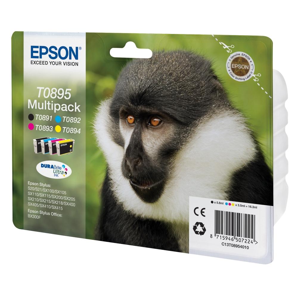 Epson Μελάνι Inkjet T0895 Multipack (C13T08954010) (EPST089540)