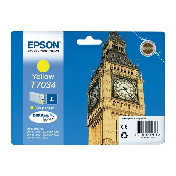 Epson Μελάνι Inkjet T7034 Yellow (C13T70344010) (EPST703440)