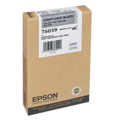 Epson Μελάνι Inkjet T6039 Light Light Black (C13T603900) (EPST603900)