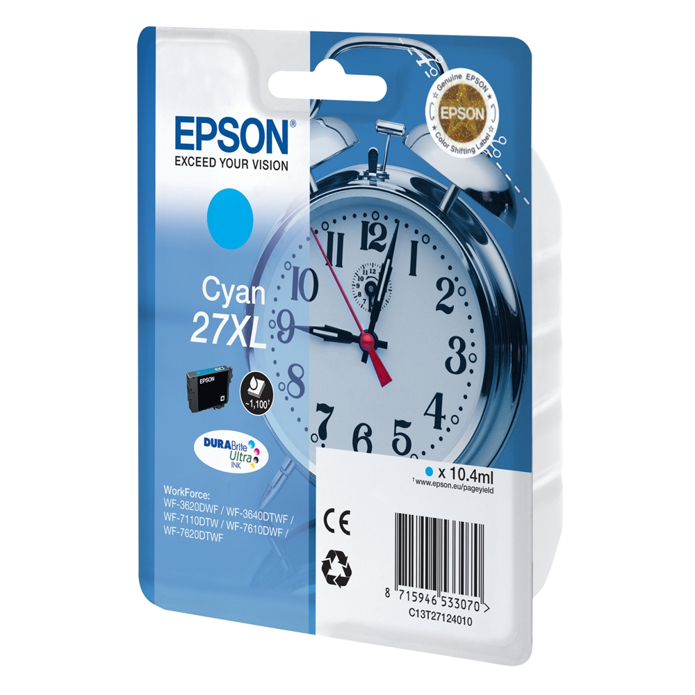 Epson Μελάνι Inkjet Series 27 XL Cyan (C13T27124012) (EPST271240)