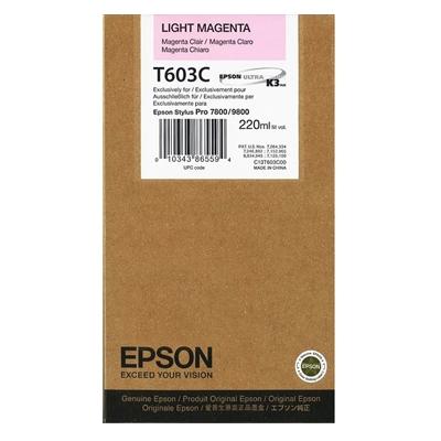 Epson Μελάνι Inkjet T603C Light Magenta (C13T603C00) (EPST603C00)