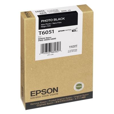 Epson Μελάνι Inkjet T6051 Photo Black (C13T605100) (EPST605100)