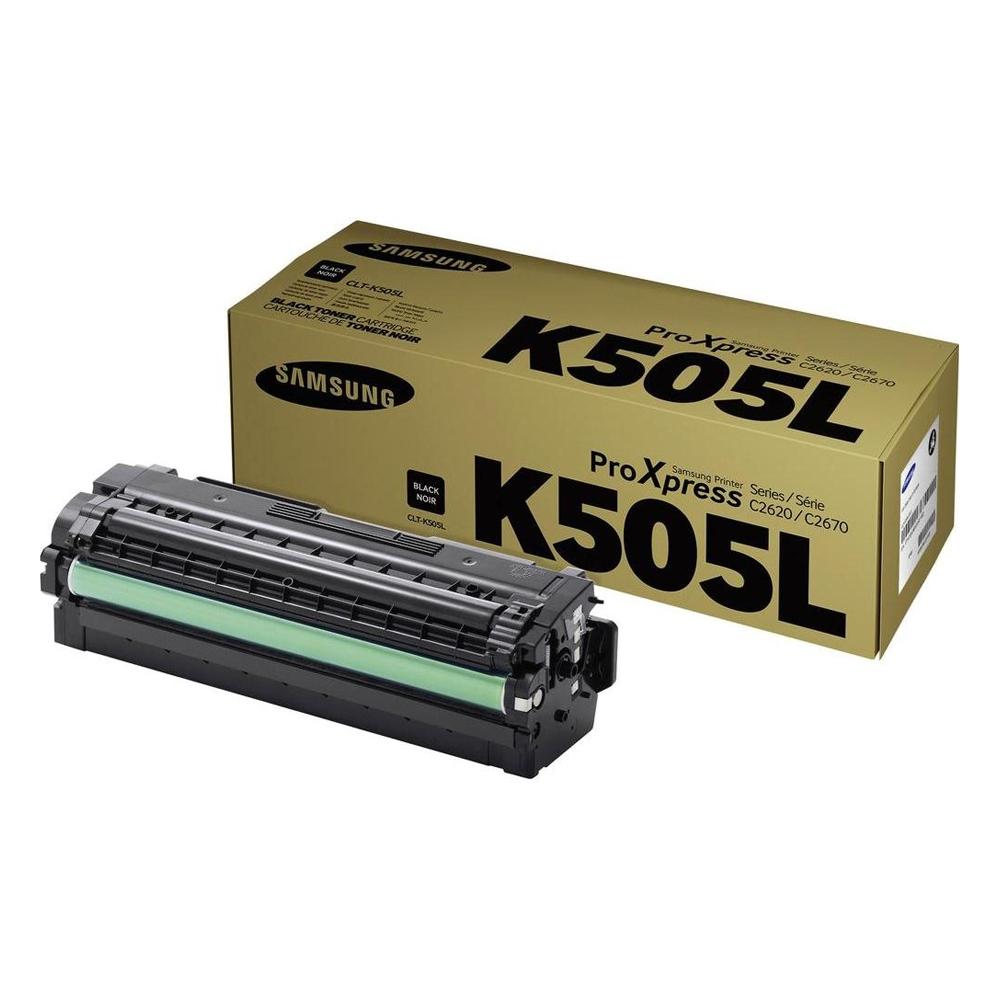 Samsung CLT-K505L H-Yield Blk Toner Cartridge (SU168A) (HPCLTK505L)