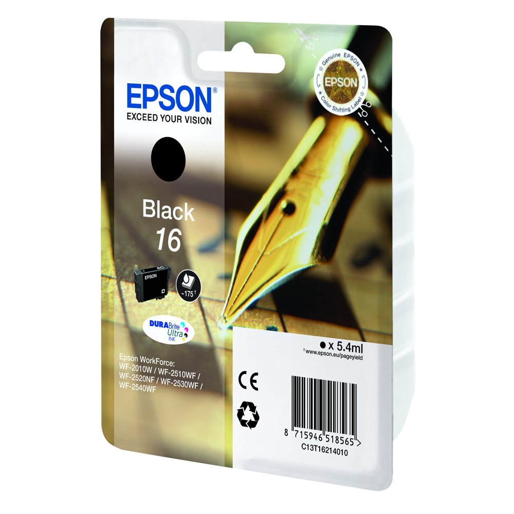 Epson Μελάνι Inkjet No.16 Black (C13T16214012) (EPST162140)