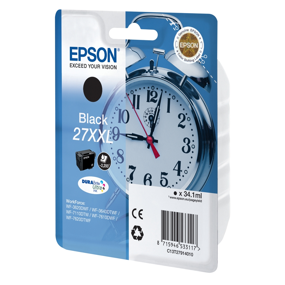 Epson Μελάνι Inkjet Series 27 XXL Black (C13T27914012) (EPST279140)