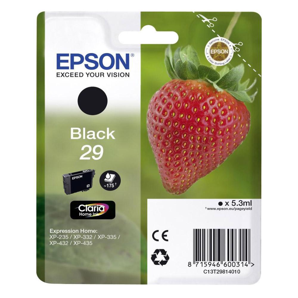 Epson Μελάνι Inkjet Series 29 Black (C13T29814012) (EPST298140)