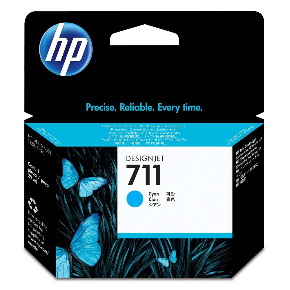 HP Μελάνι Inkjet No.711 Cyan (CZ130A) (HPCZ130A)