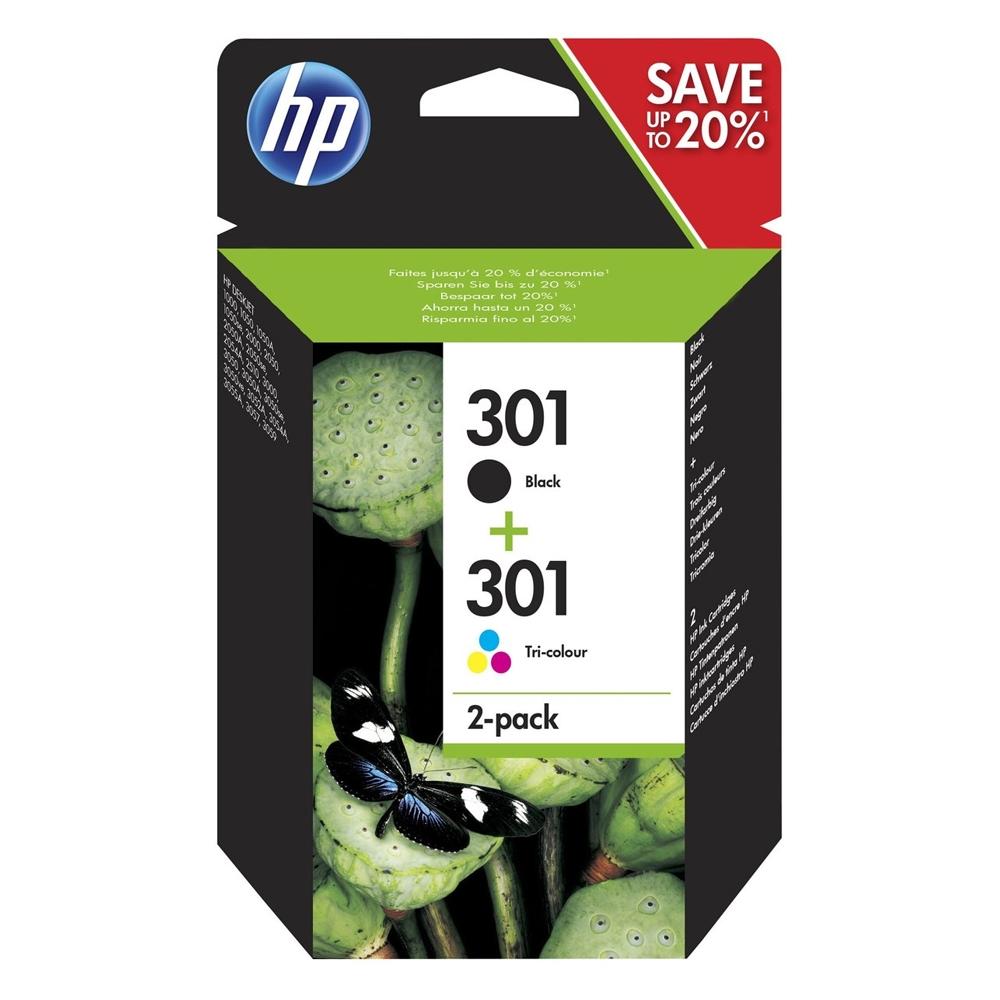 HP Μελάνι Inkjet No.301 Combo 2-Pack (N9J72AE) (HPN9J72AE)