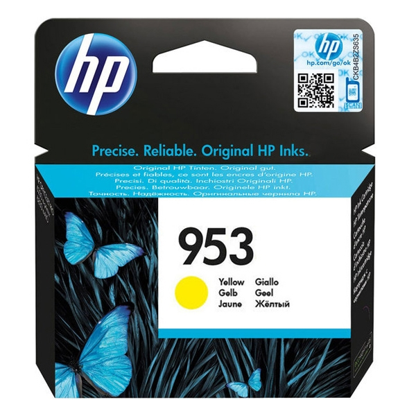 HP Μελάνι Inkjet 953 Yellow (F6U14AE) (HPF6U14AE)