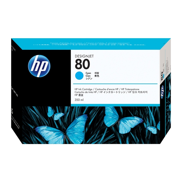 HP Μελάνι Inkjet No.80 HC Cyan 350ml (C4846A) (HPC4846A)