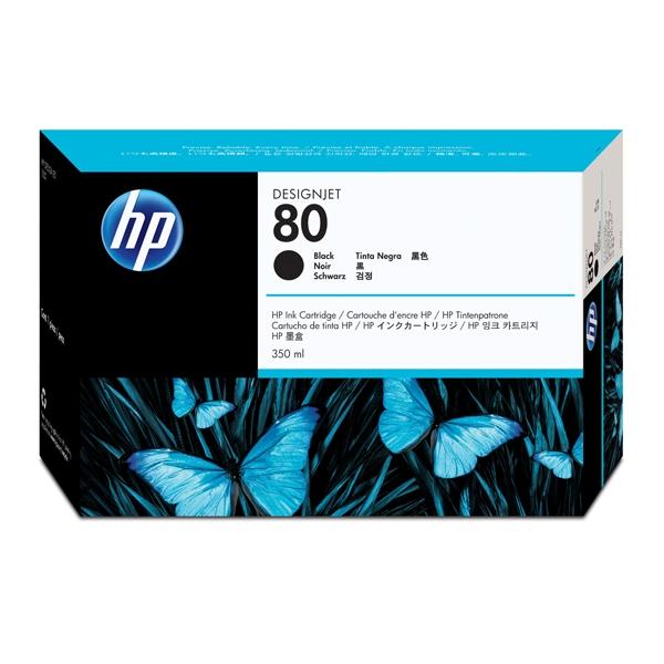 HP Μελάνι Inkjet No.80 HC Black 350ml  (C4871A) (HPC4871A)