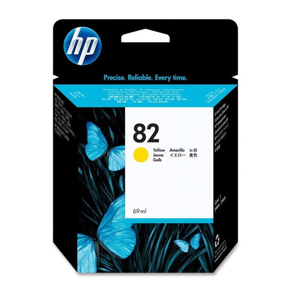 HP Μελάνι Inkjet No.82 HC Yellow 69ml (C4913A) (HPC4913A)