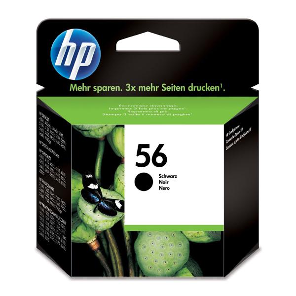 HP Μελάνι Inkjet No.56 Black (C6656AE) (HPC6656AE)