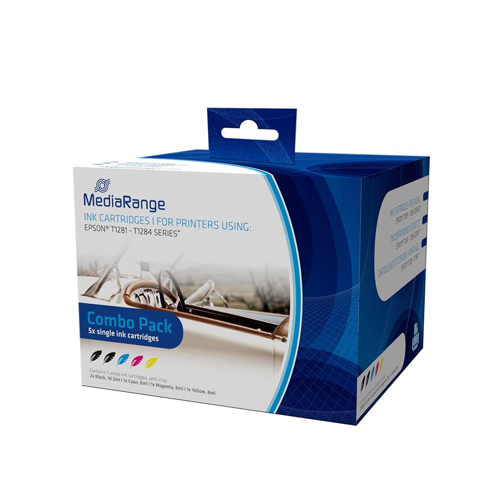 Inkjet MEDIARANGE Συμβατό για Εκτυπωτές Epson (Multipack) (T1281/T1284) (MRET128)