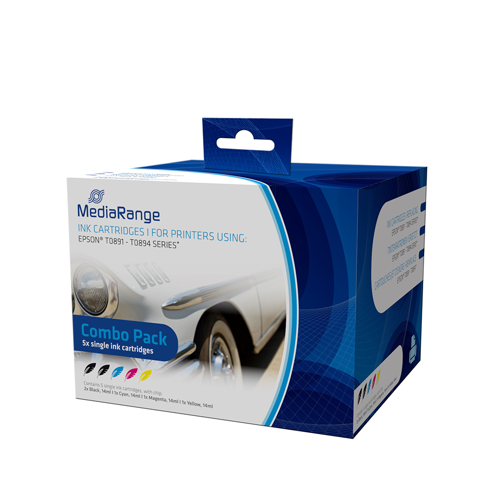 Inkjet MEDIARANGE Συμβατό για Εκτυπωτές Epson (Multipack) (T0891-T0894) (MRET89)