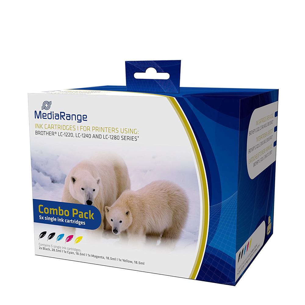 Inkjet MEDIARANGE Συμβατό για Εκτυπωτές Brother (Multipack) (LC-1220/LC-1240/LC-1280) (MRB1240)
