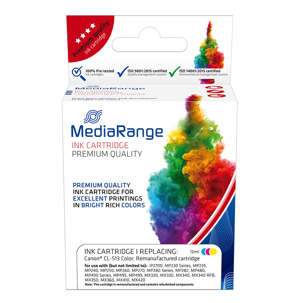 Inkjet MEDIARANGE Συμβατό για Εκτυπωτές Canon Tricolor (with chip) (CL-513) (MRCC513CMY)