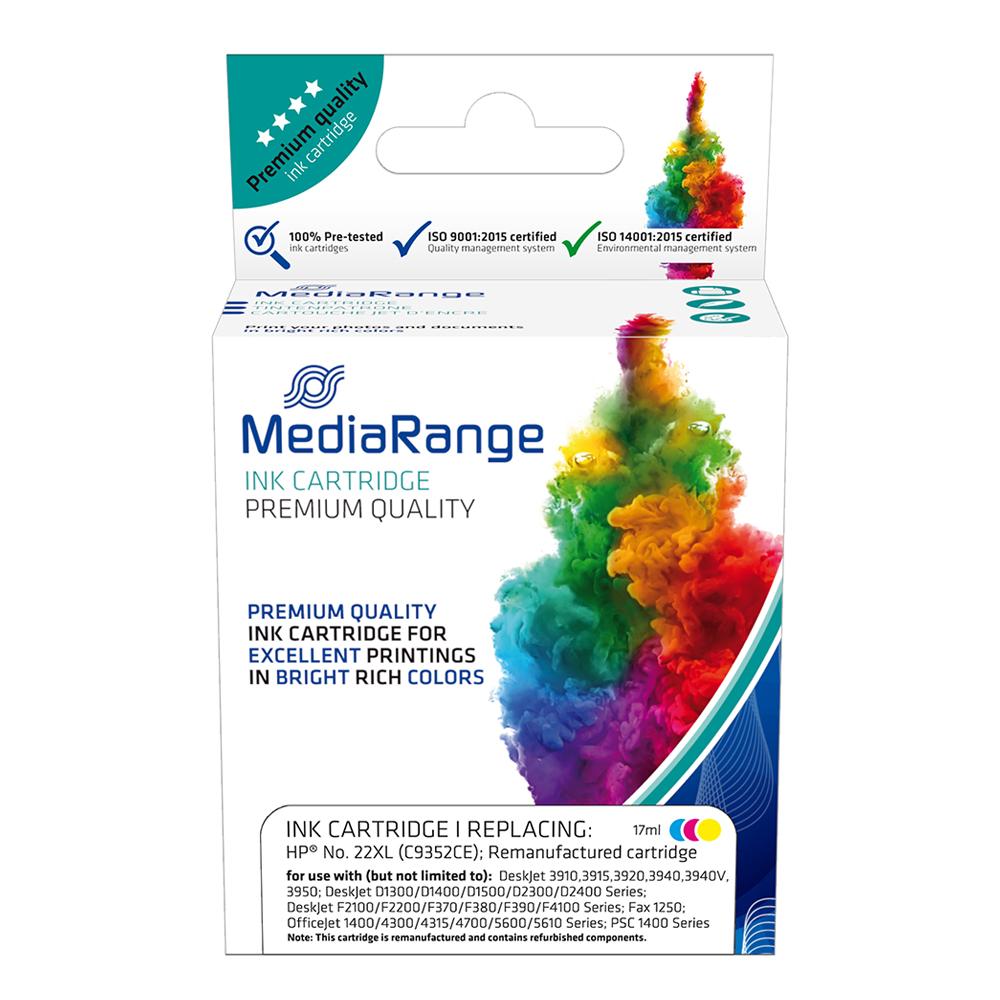 Inkjet MEDIARANGE Συμβατό για Εκτυπωτές HP (Colour) (No.22XL) (C9352CE) (MRHP22CMYXL)