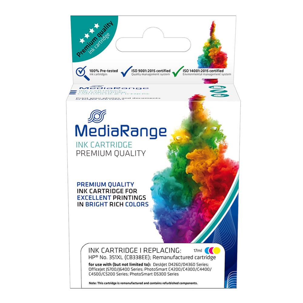Inkjet MEDIARANGE Συμβατό για Εκτυπωτές HP (Colour) (No.351XL) (CB338EE) (MRHP351CMYXL)