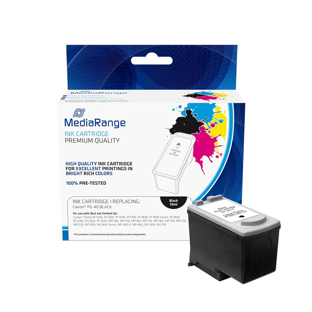 Inkjet MEDIARANGE Συμβατό για Εκτυπωτές Canon (Black) (PG-40) (0615B001) (MRCP40BK)