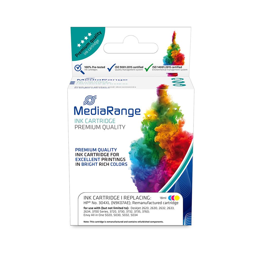 Inkjet MEDIARANGE Συμβατό για Εκτυπωτές HP (Tri-Colour) (No.304) (MRHP304CMYXL)