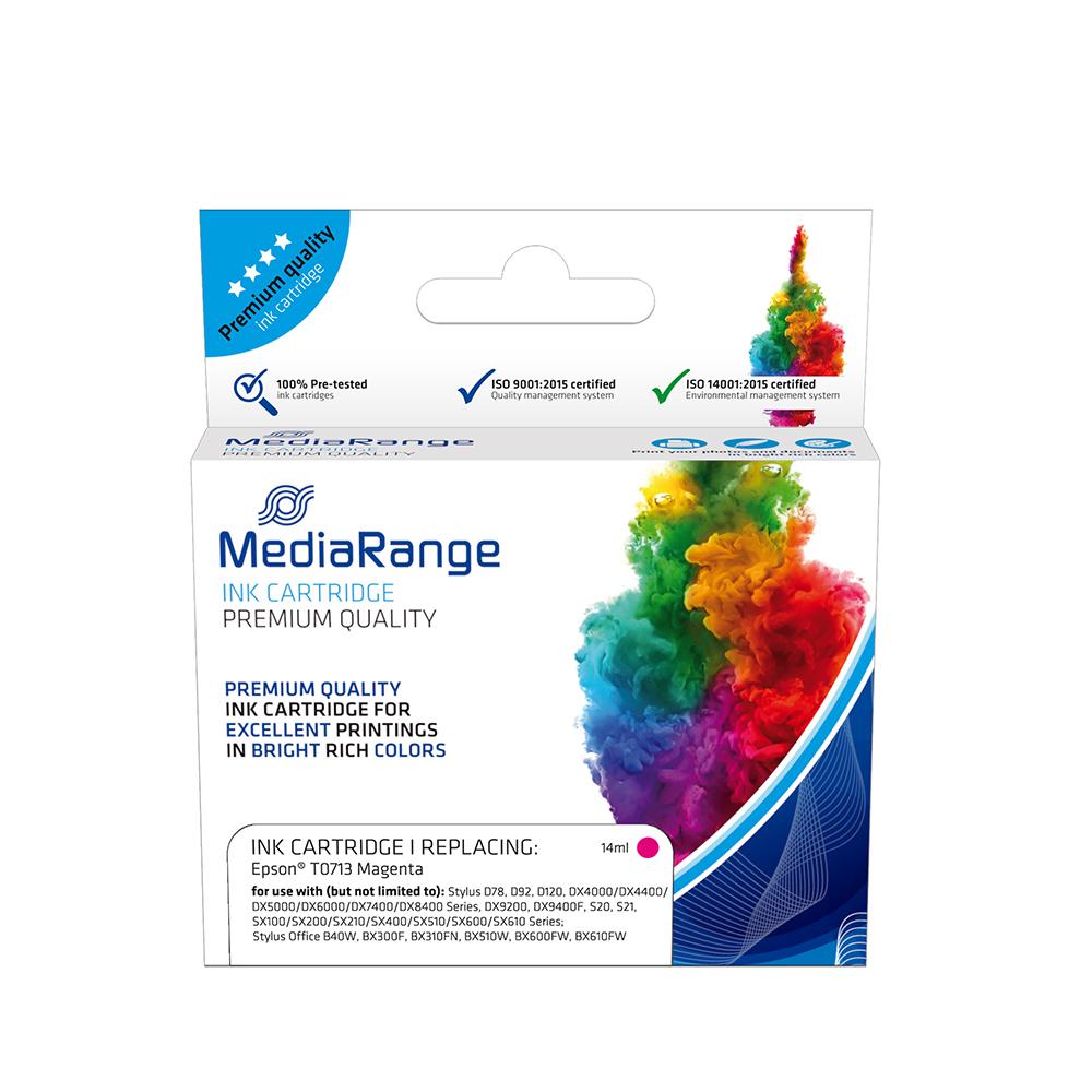 Inkjet MEDIARANGE Συμβατό για Εκτυπωτές Epson (Magenta) (T0713) (MRET071M)