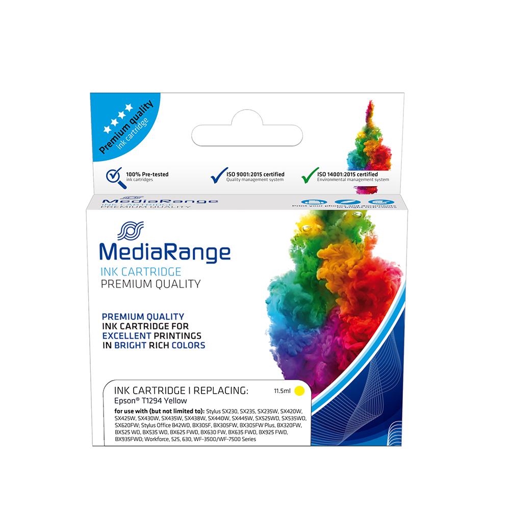 Inkjet MEDIARANGE Συμβατό για Εκτυπωτές Epson (Yellow) (T1294) (MRET129Y)