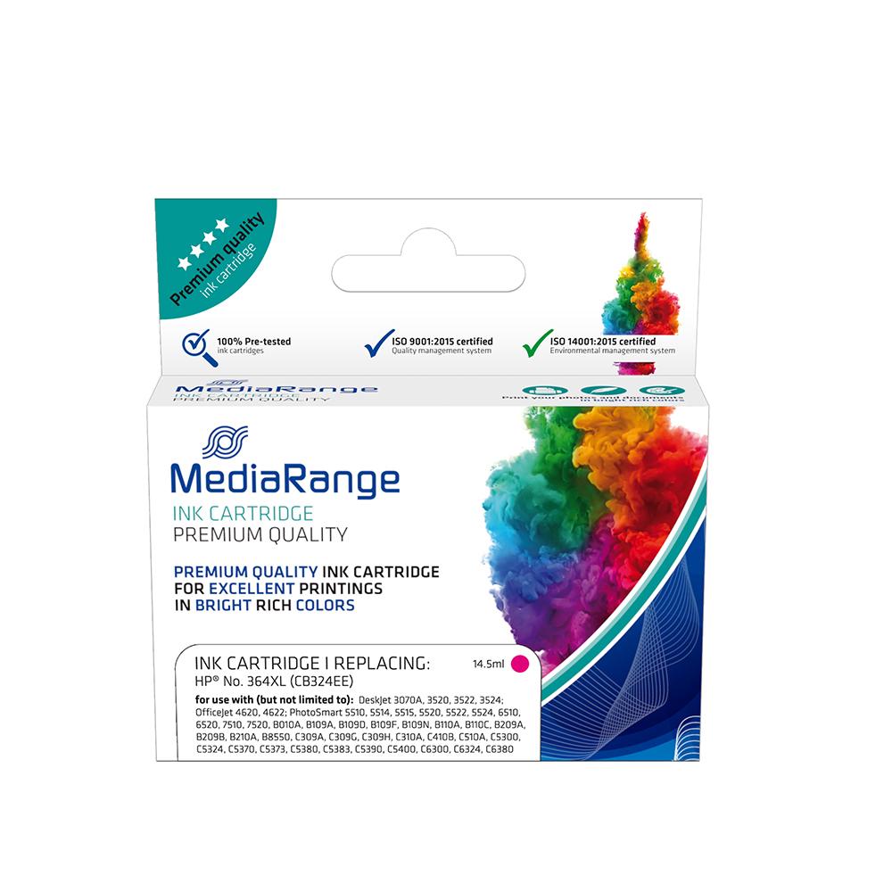Inkjet MEDIARANGE Συμβατό για Εκτυπωτές HP (Magenta) (No.364XL) (CB324EE) (MRHP364MXL)