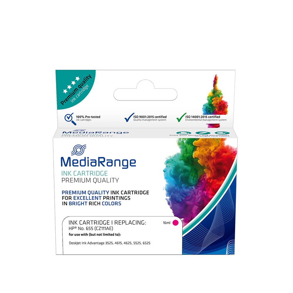 Inkjet MEDIARANGE Συμβατό για Εκτυπωτές HP (Magenta) (No.655) (CZ111AE) (MRHP655M)