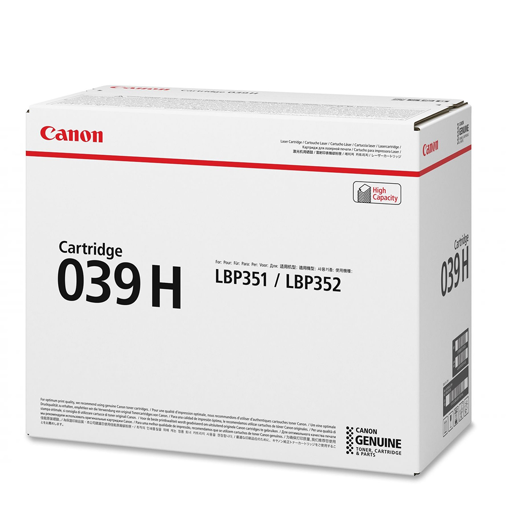 CANON LBP350 SERIES TONER BLACK HC (25K) (0288C001) (CAN-039BKH)