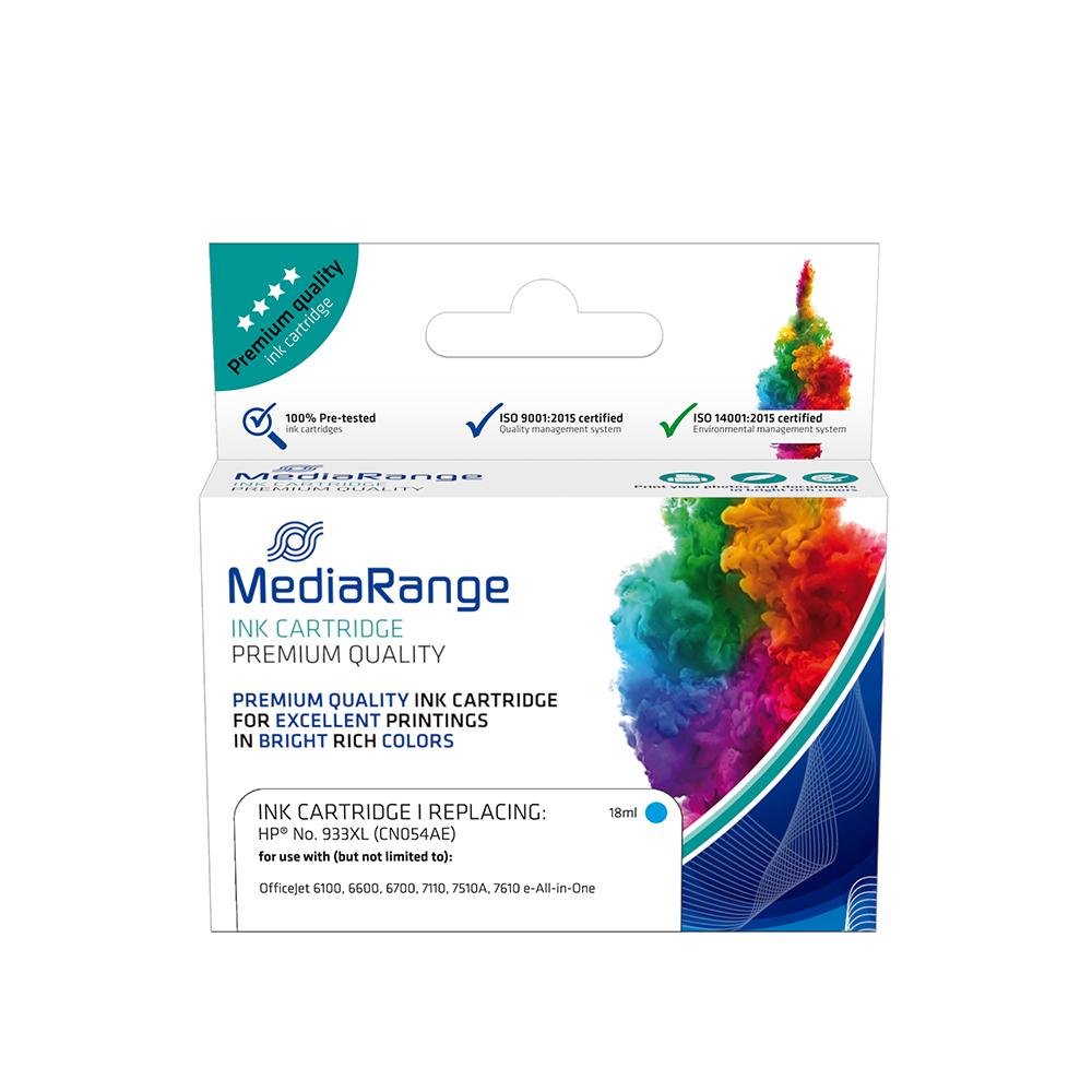 Inkjet MEDIARANGE Συμβατό για Εκτυπωτές HP (Cyan) (No.933XL) (CN054AE) (MRHP933CXL)